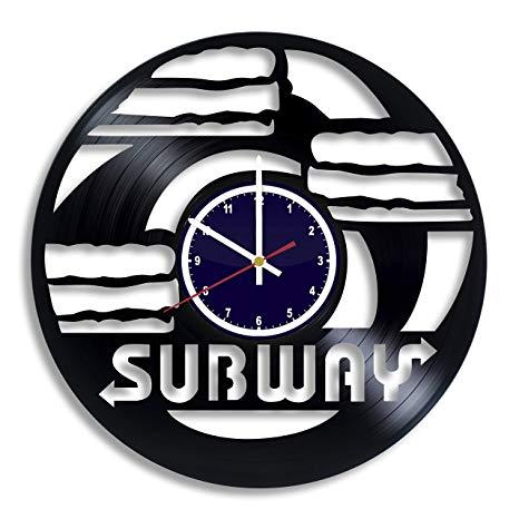Amazon.com: BuhnemoShop Subway Handmade Vinyl Record Wall.