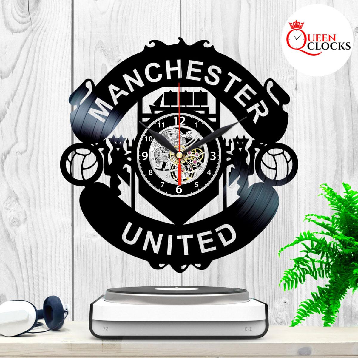 Details about Manchester United Logo Emblem Vinyl Record Wall Clock Best  Fans Gift Home Decor.