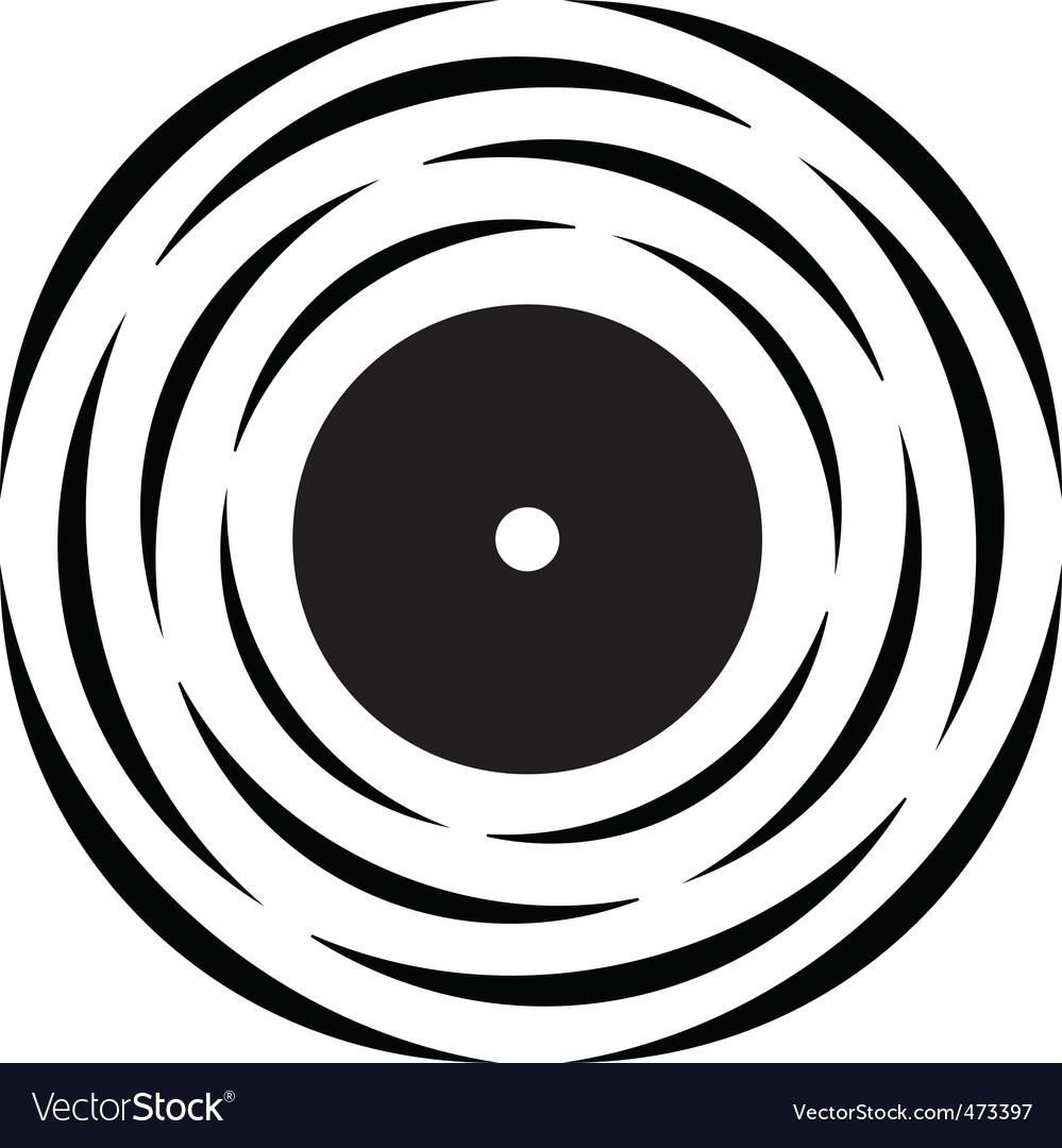 Vinyl record logo.
