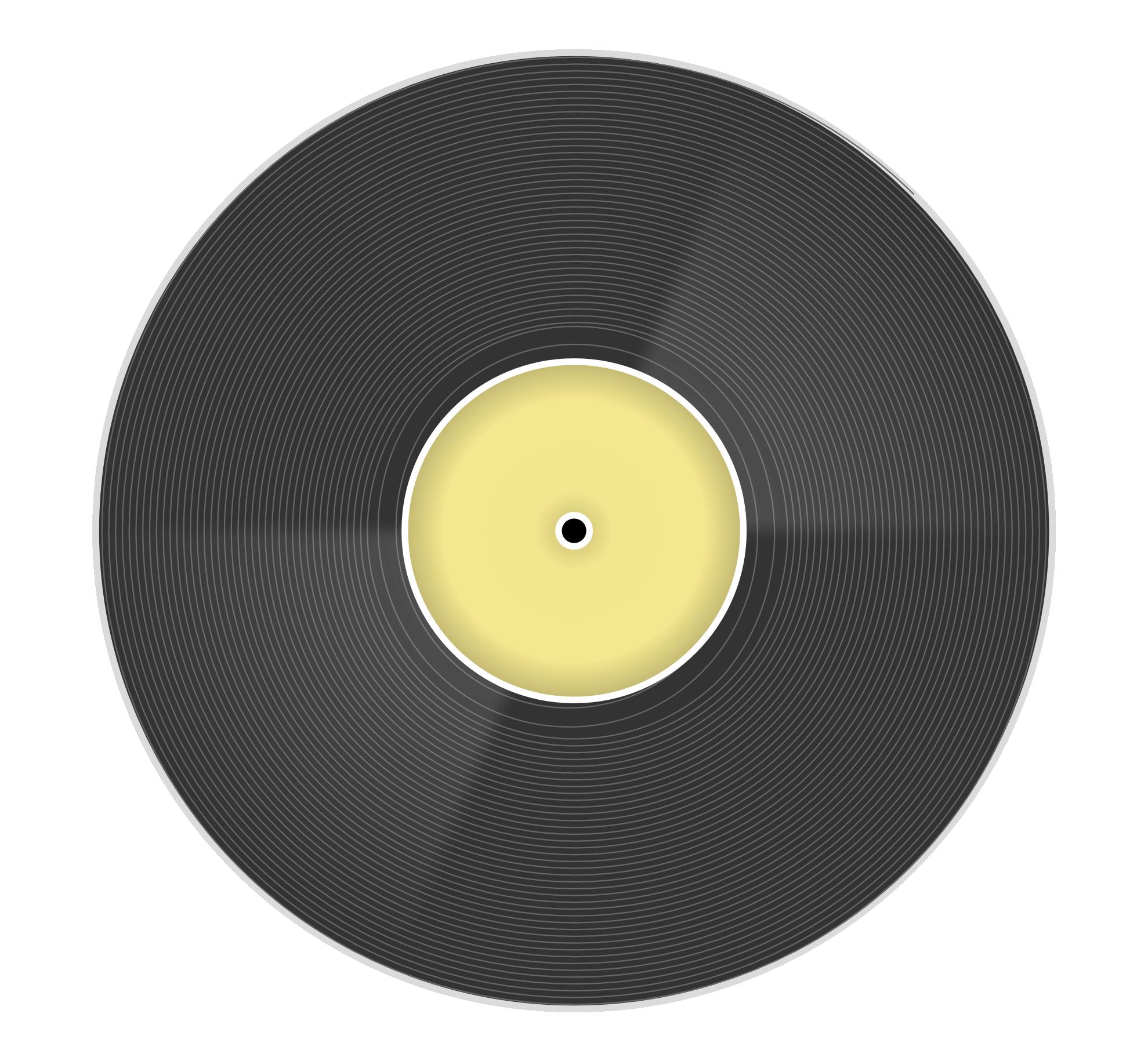 Record Vinyl Vector.