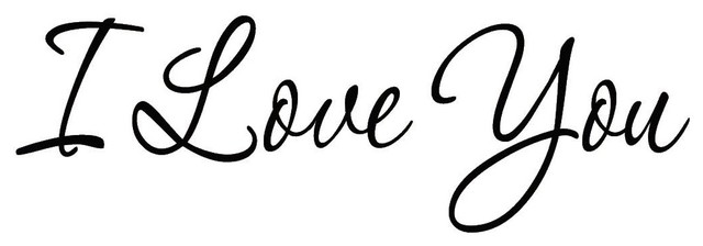 VWAQ I Love You Wall Decal Quotes Home Decor Sayings Wall Decals Wife  Husband.