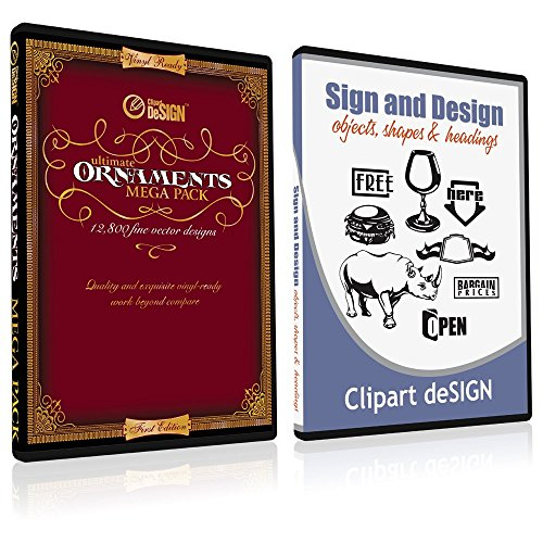 Sign Clipart, Design Elements, Scrolls, Floral, Flourishes, Ornamental  Panels + Frames Vinyl Cutter Plotter Vector Clip Art Images, Graphics on CD.