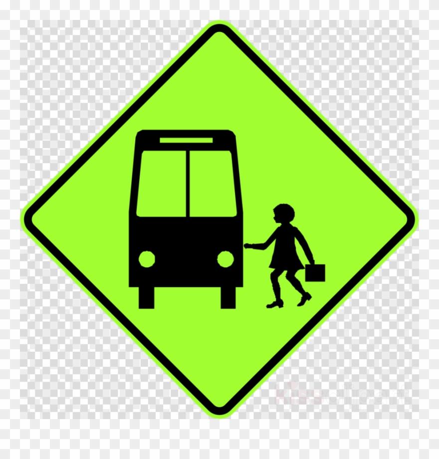 Download School Bus Sign Clipart Bus Stop School Bus.