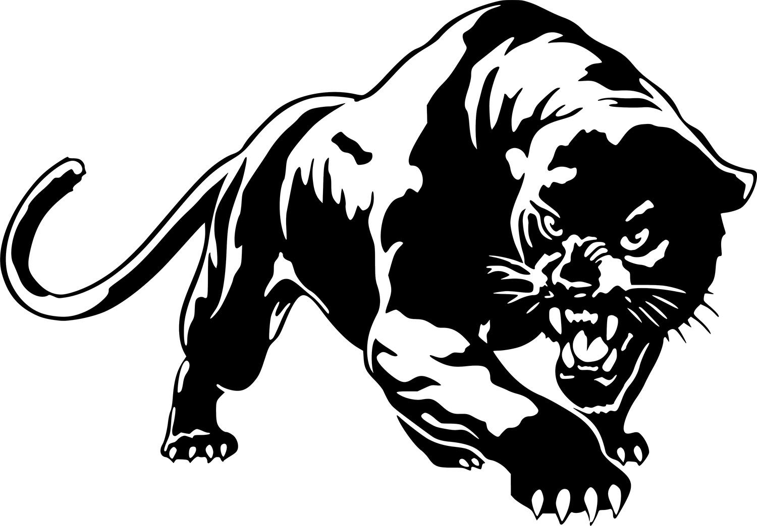 Details about Black Panther Wild Cat Wall Car Truck Window.