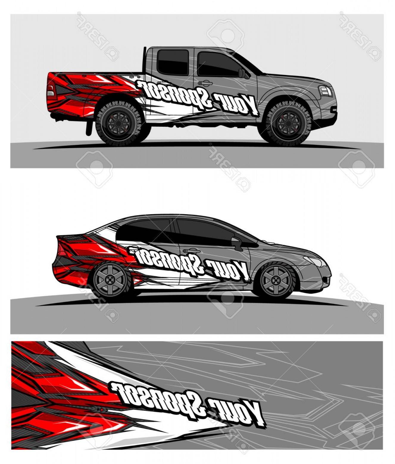 Photostock Vector Car Graphic Vector Abstract Racing Shape.