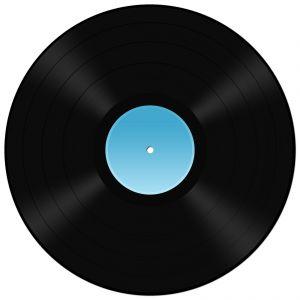 Vinyl Record Funny Clipart.