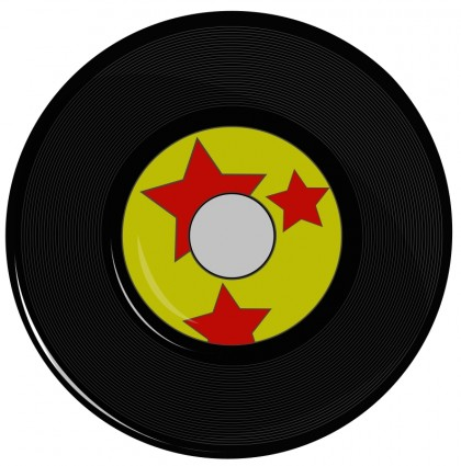 Vinyl record clipart images.