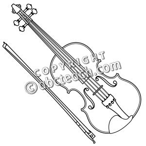 Clip Art Cartoon String Instruments Viola Clipart.