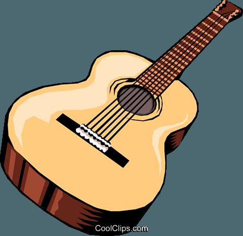 Acoustic guitar Royalty Free Vector Clip Art illustration.