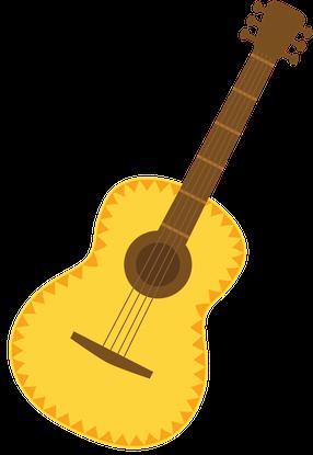 Mexican Guitar Clipart Png.