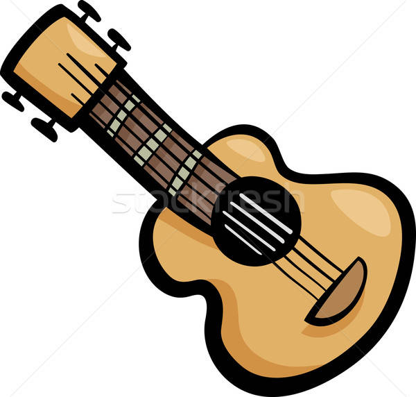 guitar clip art cartoon illustration vector illustration.