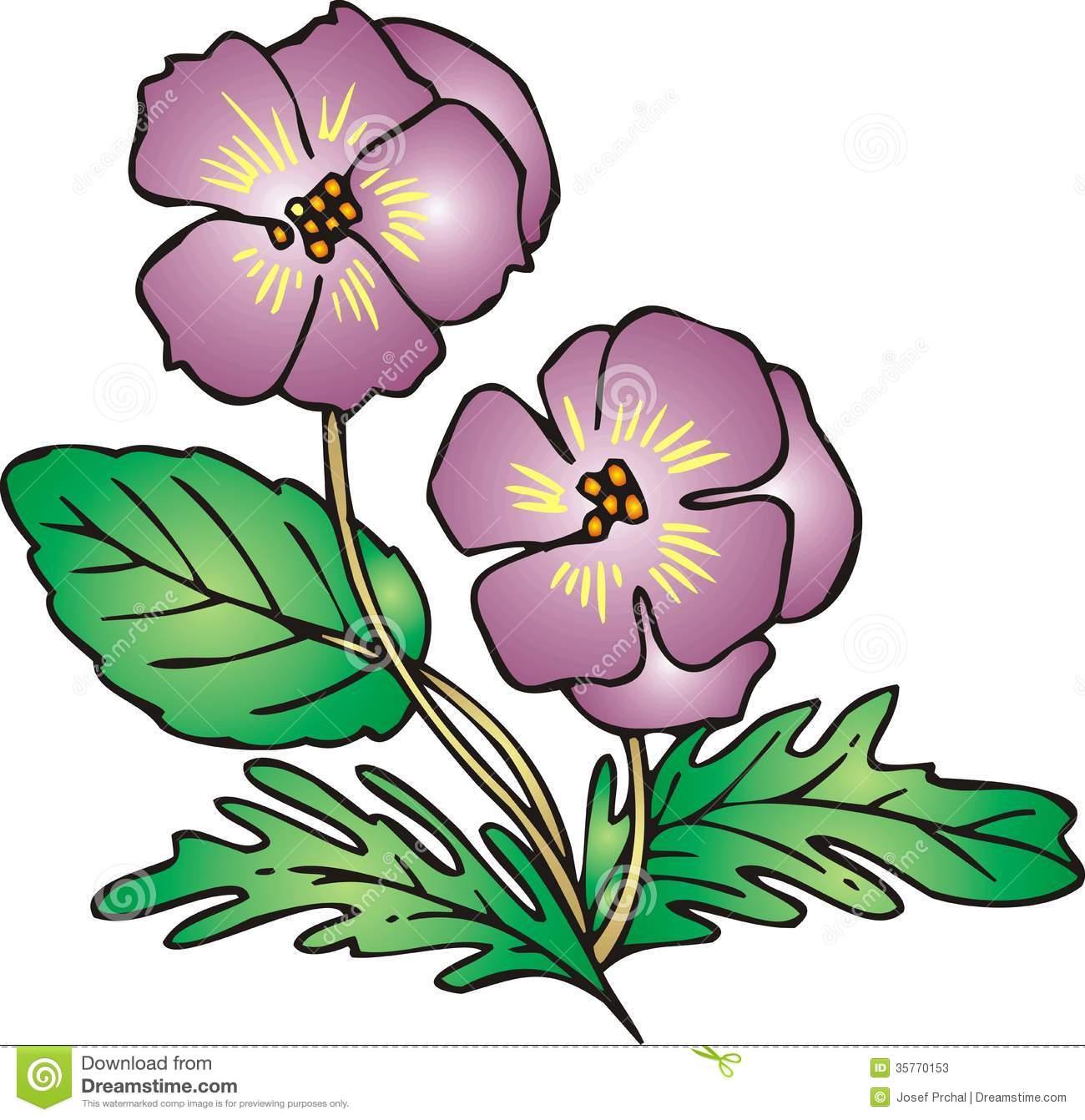 Violet Flower Clipart.