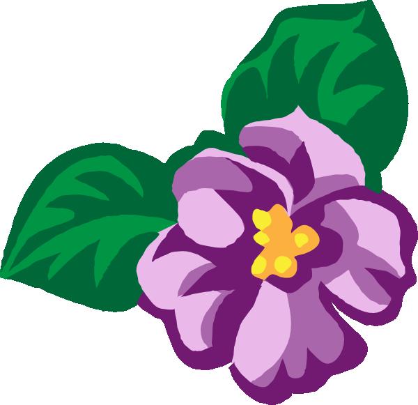 Violet Flower Clip Art.