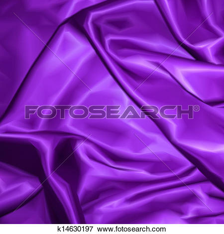 Clip Art of Violet fabric satin texture for background. Vector.