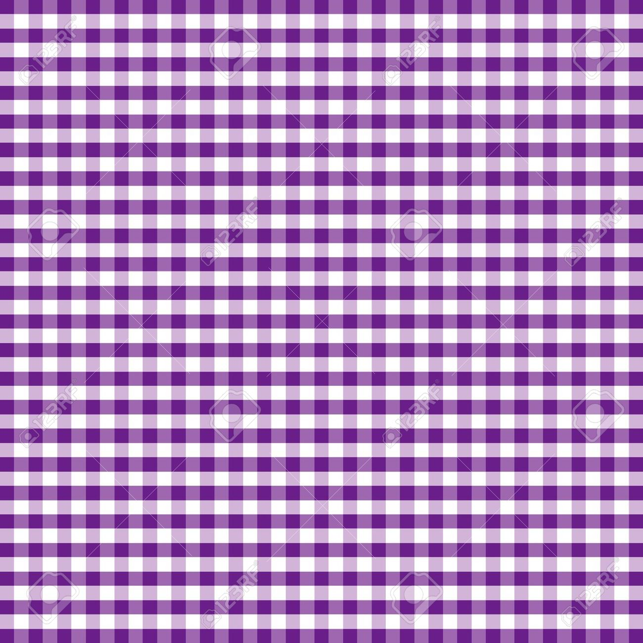 Seamless Pattern, Purple And White Gingham Check Background.