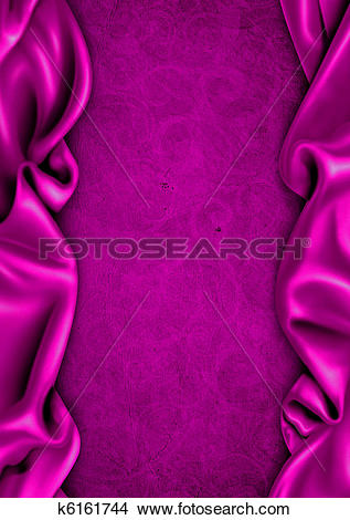 Drawings of Purple satin fabric background k6161744.
