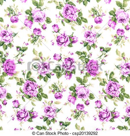 Stock Illustration of Purple Rose Fabric background, Fragment of.