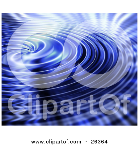 Clipart Illustration of a Background of Rippling Colorful Water by.