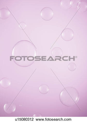 Stock Photo of Water Droplets on Purple Background u15080312.