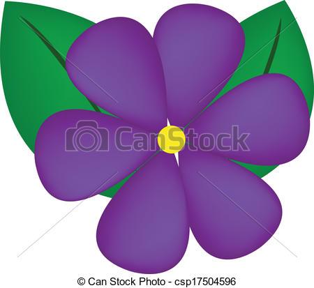 violet flower clip art #1.
