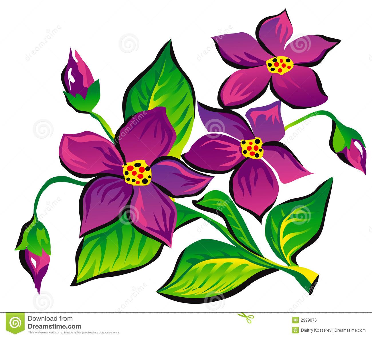 violet flower clip art #21.