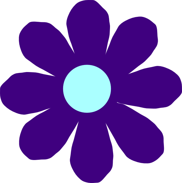 Violet flower clipart - Clipground