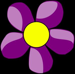 Cute Violet Flower Clipart.