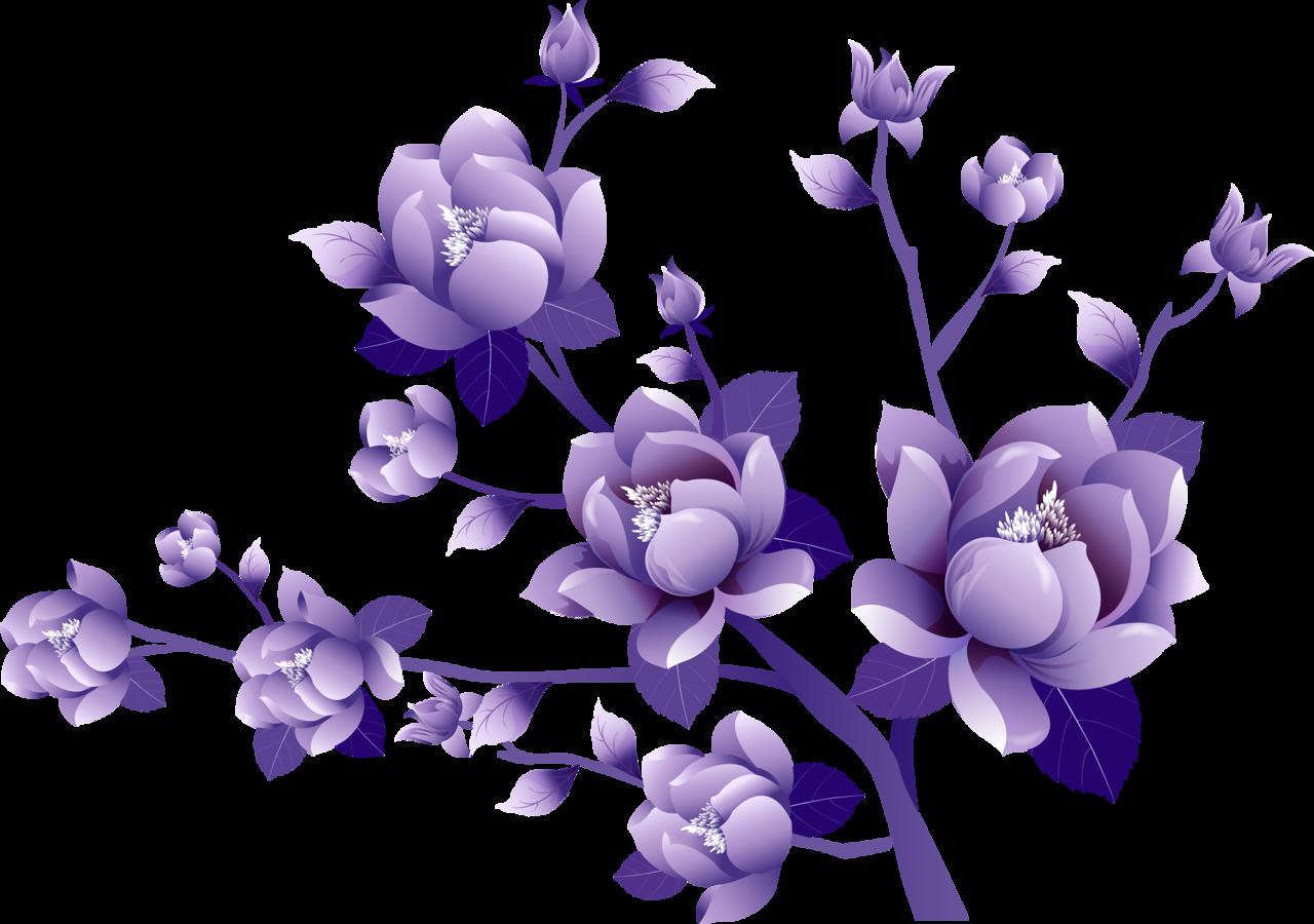 Purple Flower Clip art.
