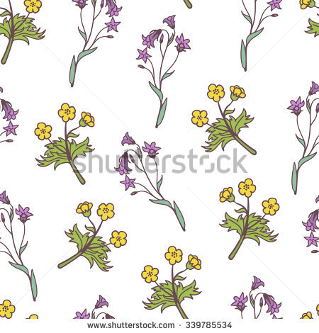 Forest Bellflower Stock Photos, Royalty.