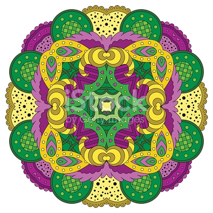 Violetgreen Mandala stock vector art 544796310.