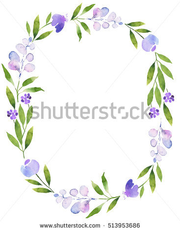 Violet Boho Flower Stock Images, Royalty.