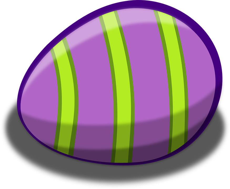 Free vector graphic: Egg, Easter, Violet, Green, Stripes.