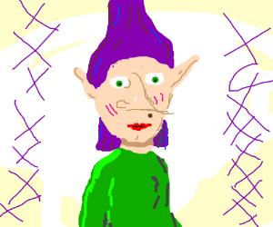 ugly purple elf lady (drawing by nigelxw).
