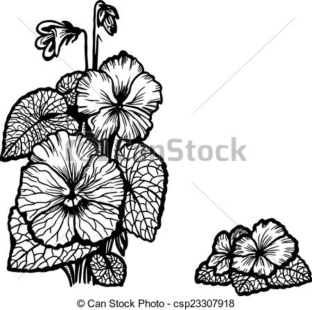 Vector Clip Art of Violet bouquet.