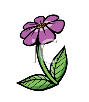 Cartoon of a Violet Flower.