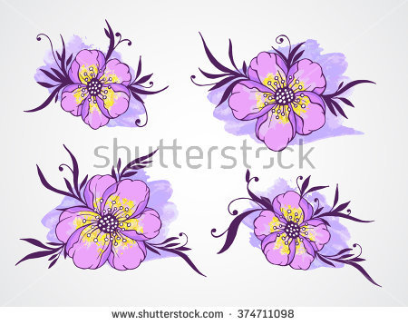 Violet Leaves Stock Vectors & Vector Clip Art.