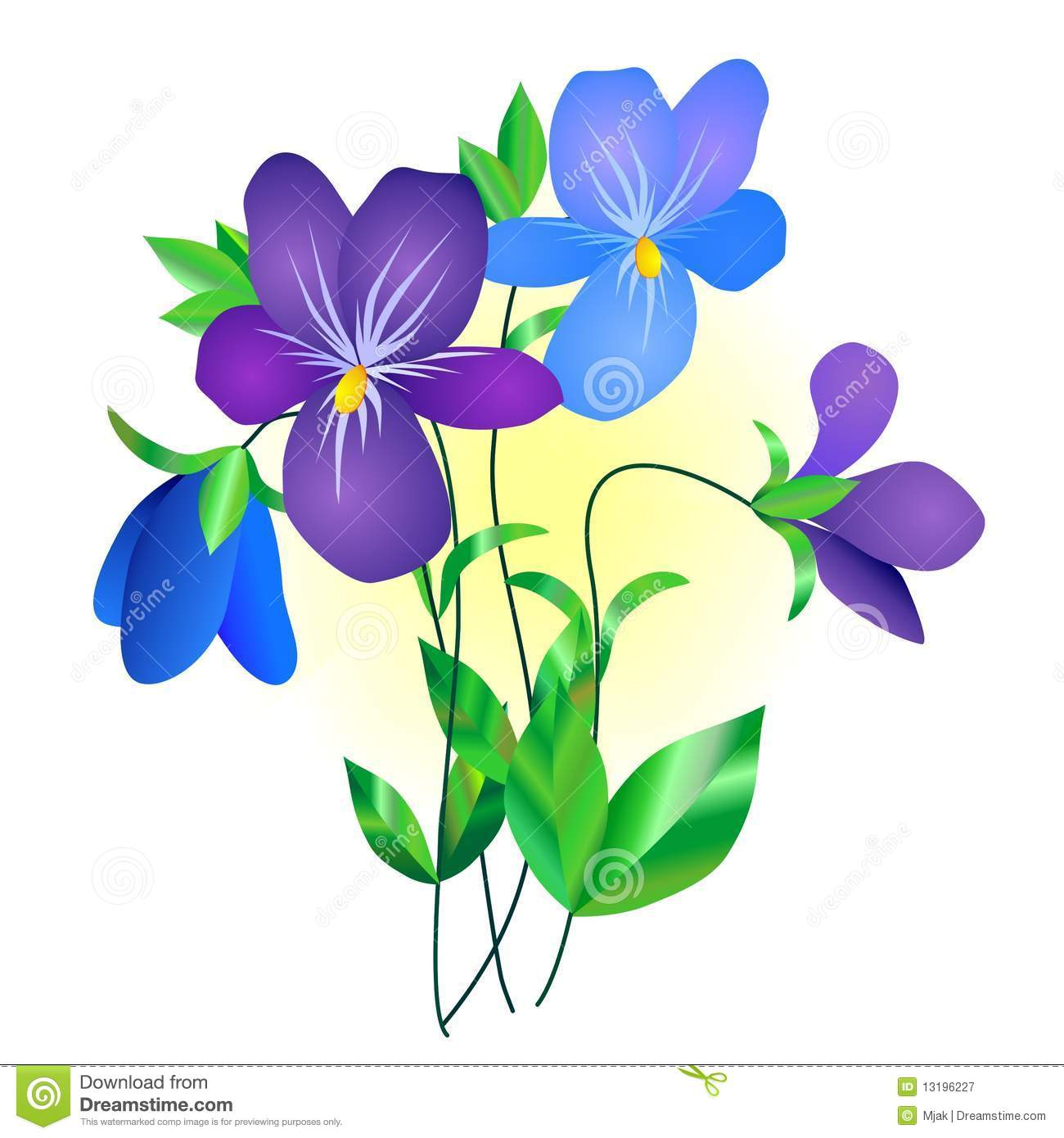Violet Flower Royalty Free Stock Photography.