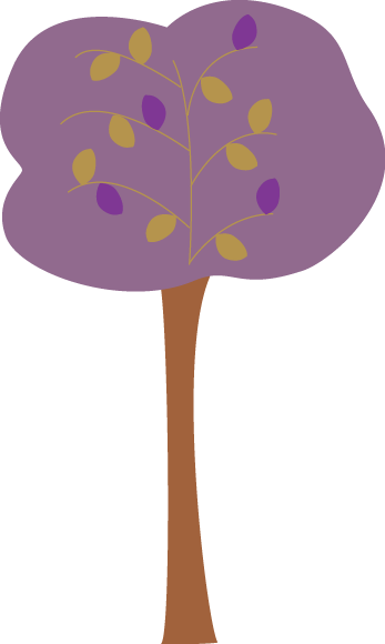 Purple Autumn Tree Clip Art.