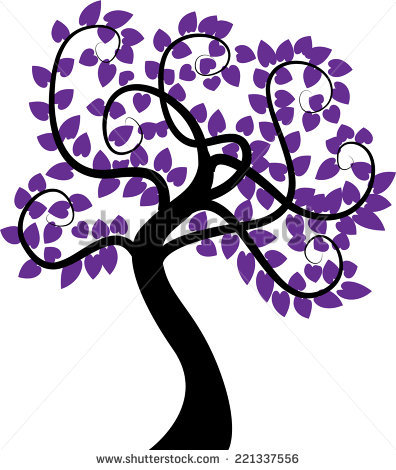 Purple Tree Stock Photos, Royalty.