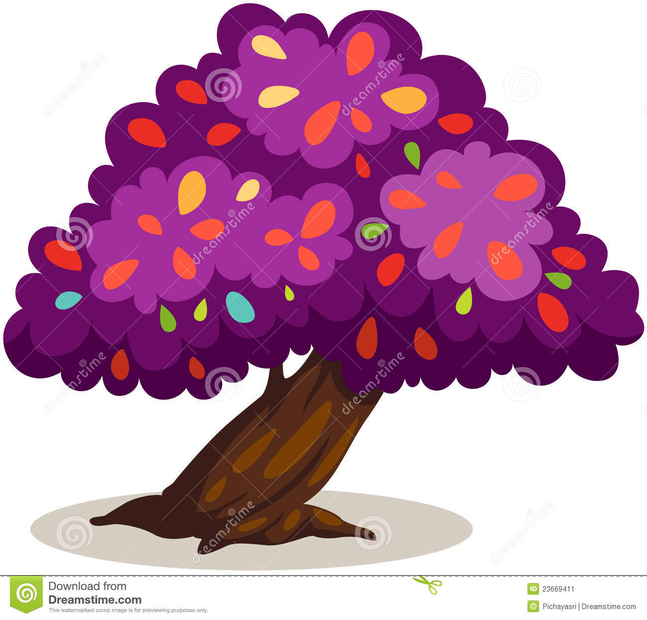 Purple Tree Stock Image.