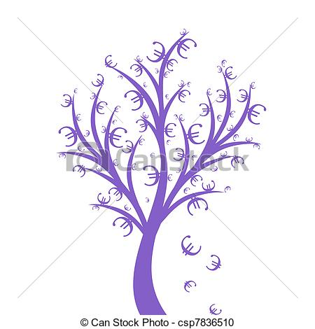 Vector Clipart of Money Tree.