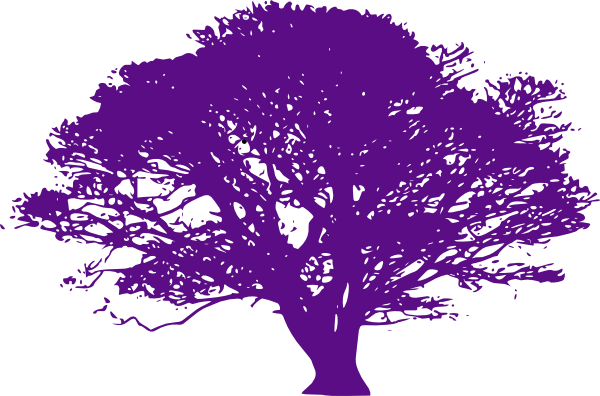 Purple Tree Clip Art at Clker.com.