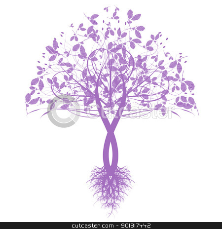 Art tree stock vector.