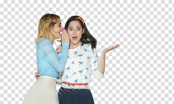 Violetta , woman whispering to other woman who is shocked.