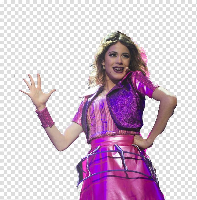 Tini Stoessel Violetta En Vivo transparent background PNG.