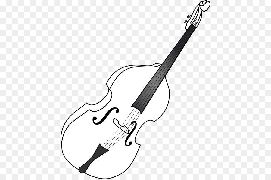 Double bass Cello Musical Instruments Bass guitar Clip art.