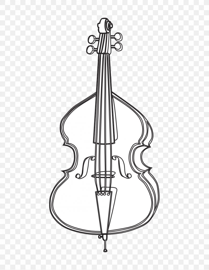 Cello Violin Drawing Double Bass Clip Art, PNG, 999x1293px.