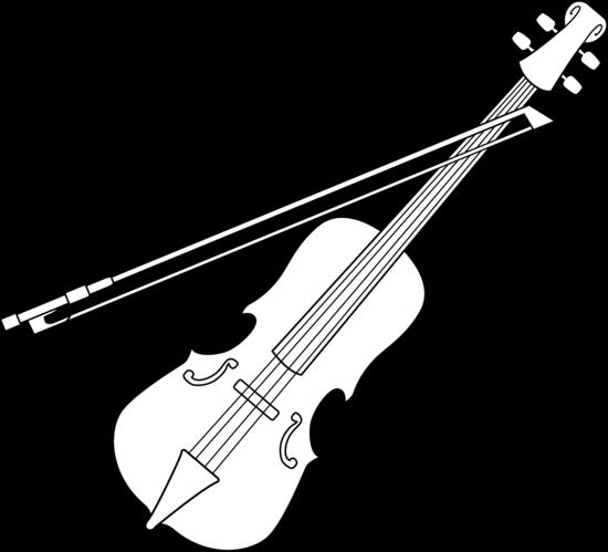 Violin bow drawing.
