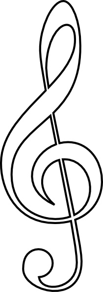 Treble Clef clip art Free vector in Open office drawing svg ( .svg.