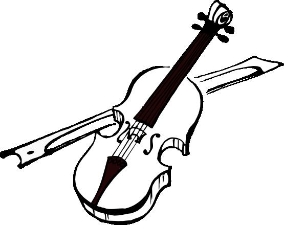 Violin Clipart Black And White.
